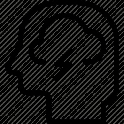 head, human, mind, process, thinking icon