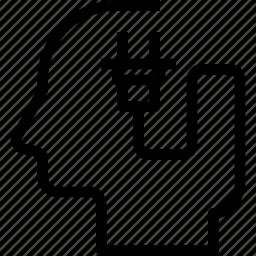 head, human, mind, plugin, process icon