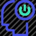 human, mind, power icon