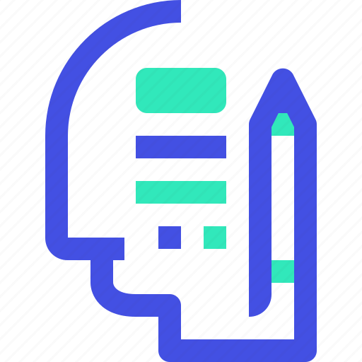 human, learning, mind icon