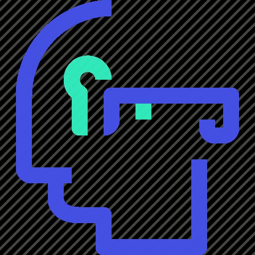 human, key, mind icon