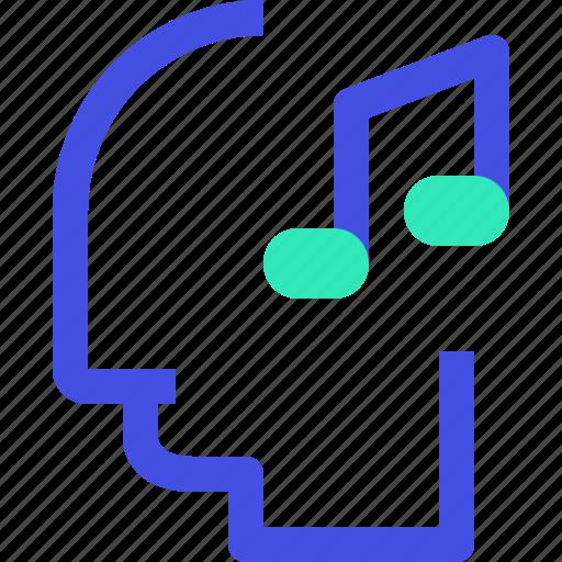 human, mind, music icon
