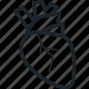 anatomy, heart, human, human heart, human organ, muscle, organ icon