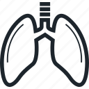 anatomy, breathe, human organ, lung, lungs, organ icon