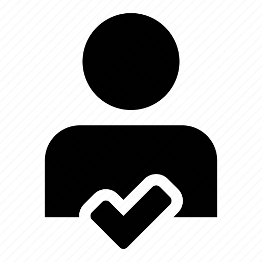 admin, approve, check, human, user icon
