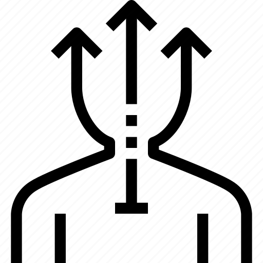 arrow, business, career, human, people, resources icon
