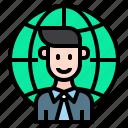 man, professional, business, global
