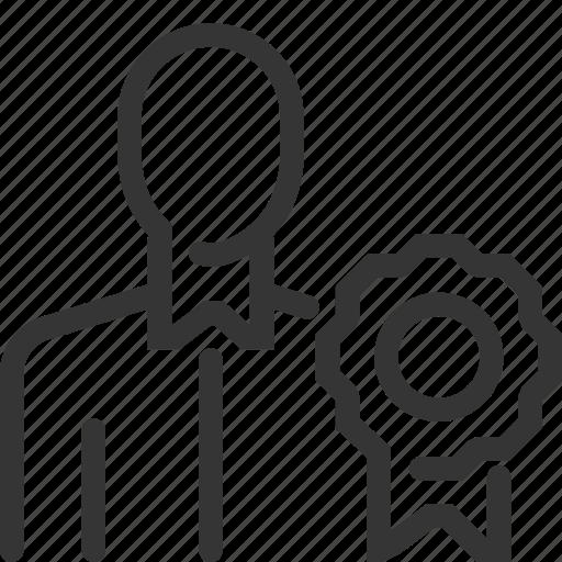 badge, bonuses, business, employee, engagement, promotion, reward icon