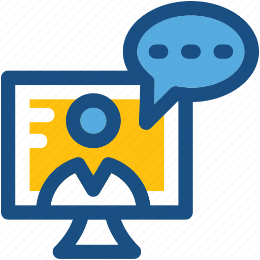 chat bubble, chat support, customer support, live chat, video call icon