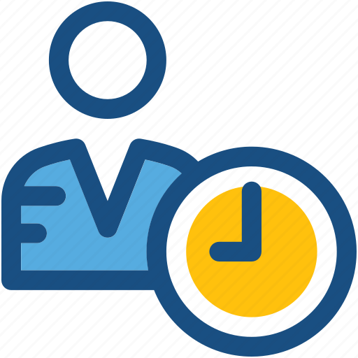 clock, deadline, man, punctual, time icon