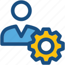 cog, man, profile setting, user, user settings icon
