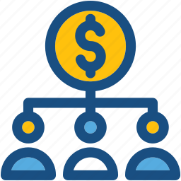 business hierarchy, dollar, hierarchical structure, hierarchy, organization icon