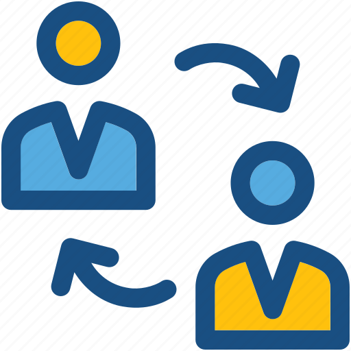 collaboration, communication, discussing, talking, users icon