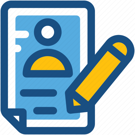 cv, editing, pencil, resume, resume writing icon