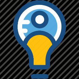 bulb, creative mind, innovative mind, intelligence, smart worker icon