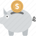 bank, coins, money box, piggy bank, saving icon