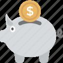 piggy bank, coins, saving, bank, money box icon