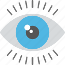 biometric recognition, eye scanning, iris scan, retina scanner, security system icon