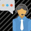 call center, customer care, customer representative, customer service, operator icon