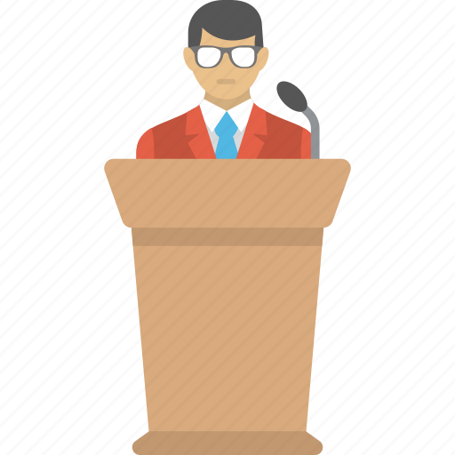 conference, hr orientation, lecture, speech, training session icon