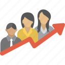 career growth, company growth, employee development, employee growth, employees promotion icon