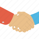 agreement, business deal, handshake, joint venture, partnership icon