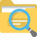 business files, file search, finding, magnifying glass, prominent icon