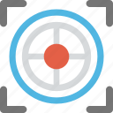 business aim, business goal, business target, focus sign, industry focus icon
