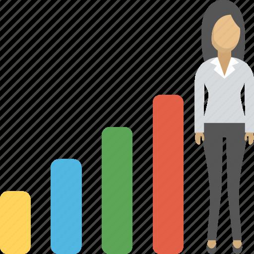 career, graph, growth, progress, promotion icon