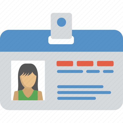 employee card, identity, identity card, work card icon
