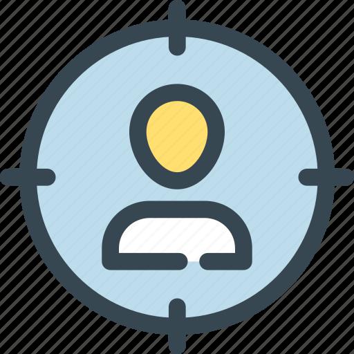 hr, human, job, man, resources, search, target icon