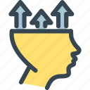 arrow, head, hr, human, job, resources, up icon