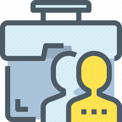bag, business, case, corporate, human, people, resources icon