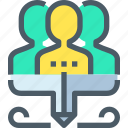 business, corporate, human, management, people, resources, team icon