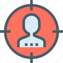 business, human, mission, people, resources, strategy, target icon