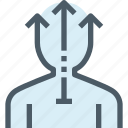 arrow, business, corporate, growth, human, people, resources icon