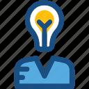 bulb, creative mind, innovative mind, intelligence, smart worker