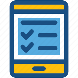 checklist app, mobile, smartphone, task manager, to do's icon