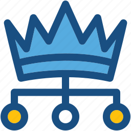 authority, boss, crown, leader, manager icon