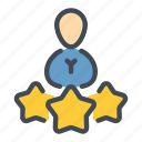 employee, person, rate, rating, review, user icon