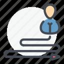 employee, opinion, person, plan, team, way icon