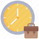 timetable, time, management, briefcase, date, work icon