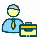 businessman, employee, human, job, jobseeker, recruitment, resources icon