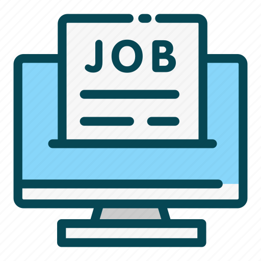human, job, online, recruitment, resources, website icon