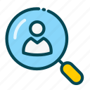 candidate, employee, human, job, recruitment, resources, searching icon