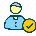 accepted, candidat, human, job, recruitment, resources, user icon
