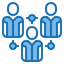 connection, human, internet, manager, network, plan, resources icon