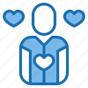 heart, human, love, man, manager, plan, resources icon