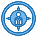 human, location, manager, map, navigator, plan, resources icon