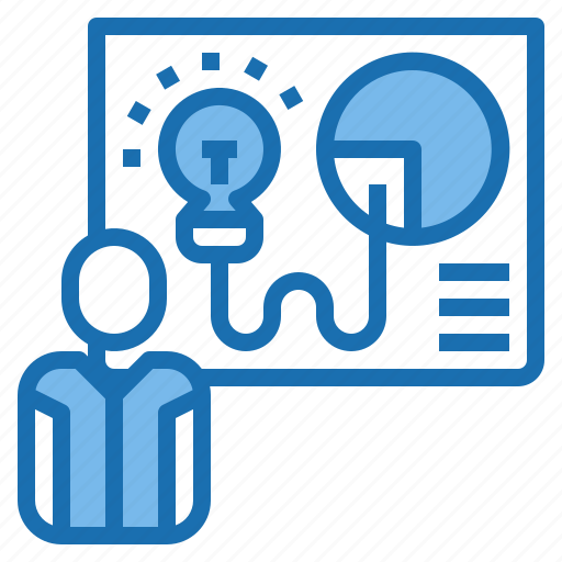 human, manager, person, plan, presenter, resources icon